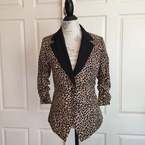 Rachel Zoe Leopard Tuxedo Blazer